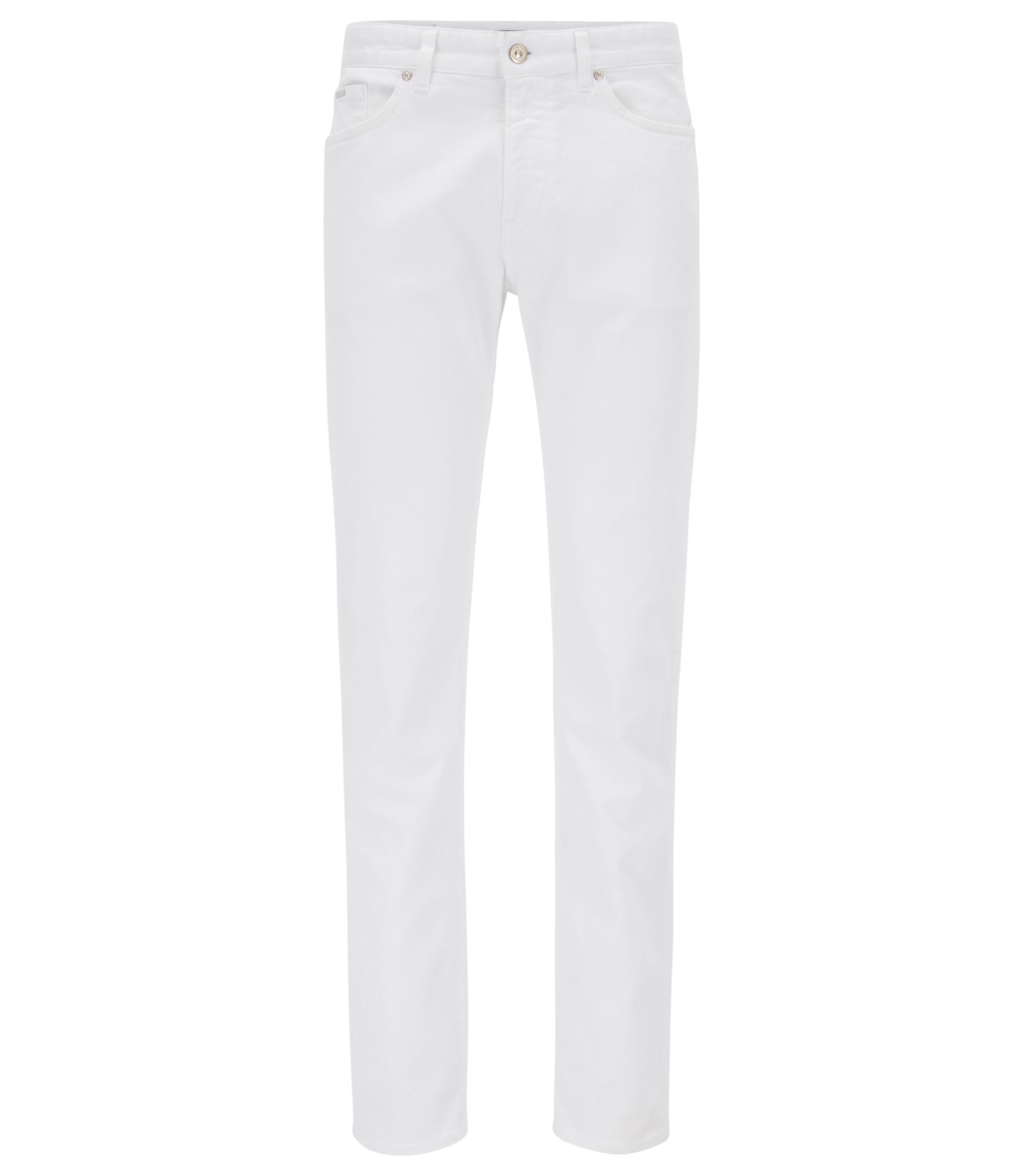 Slim-fit jeans in stretch fabric, White