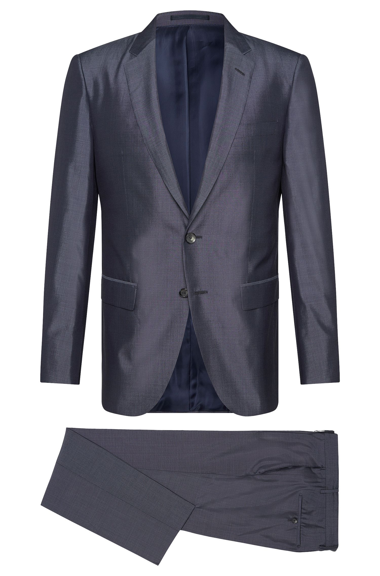 Slim-fit Tailored suit in pure silk: 'T-Harvers2/Glover1'