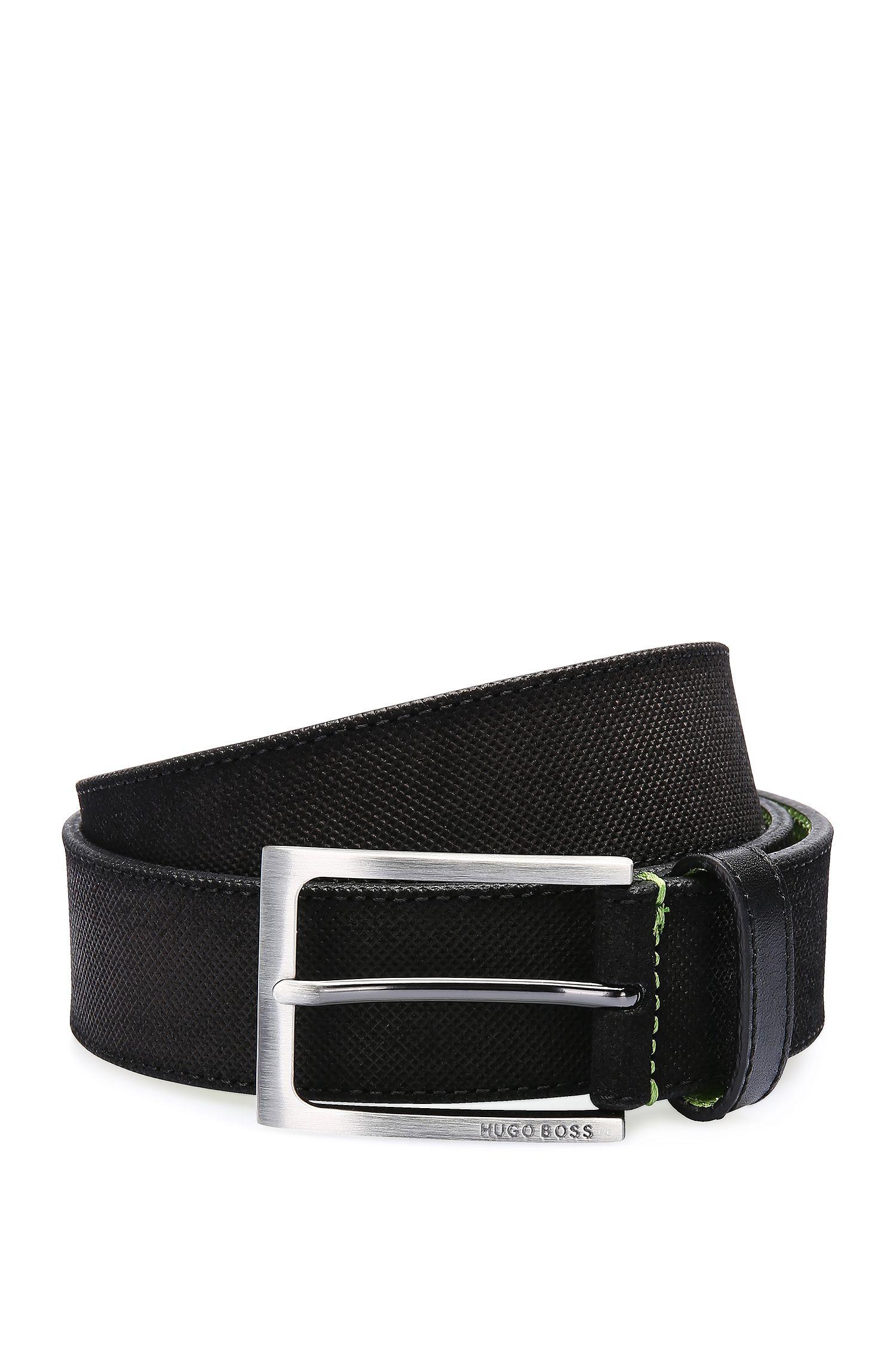 Cinturón de piel con repujado fino y cara interior en contraste: 'Tobsy_Sz35_sdem'