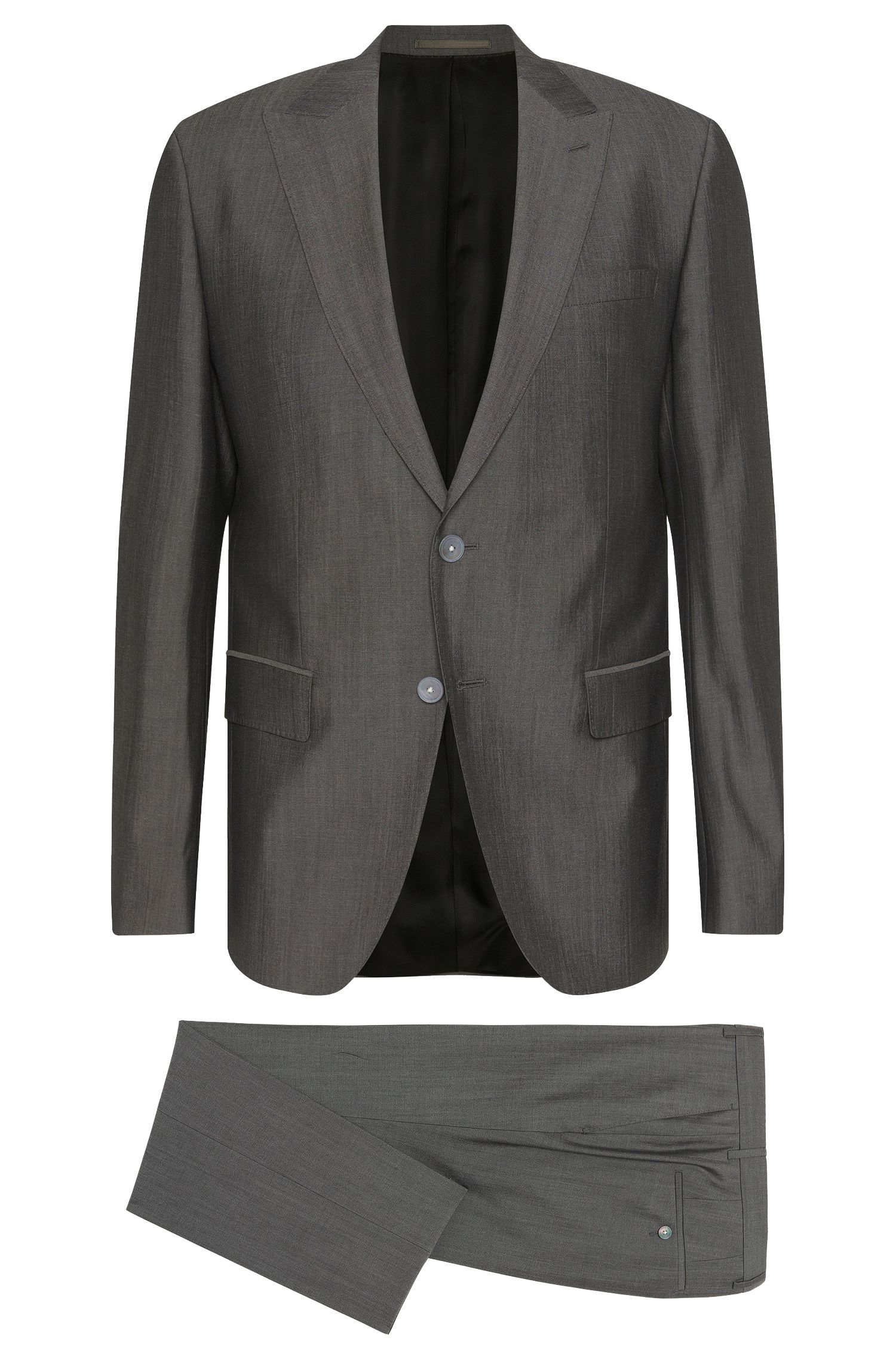 Slim-fit suit in new-wool blend with silk: 'Hadwyn/Grane'