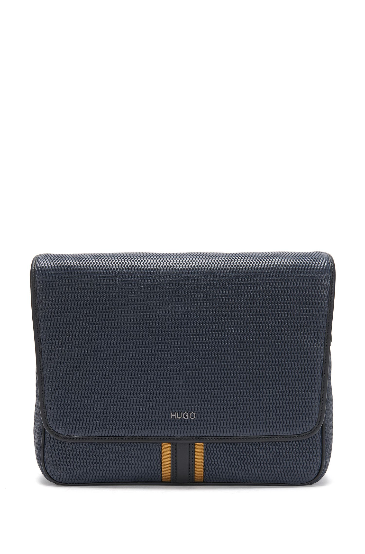 Shoulder bag in textured leather: 'Future_Mess flap'