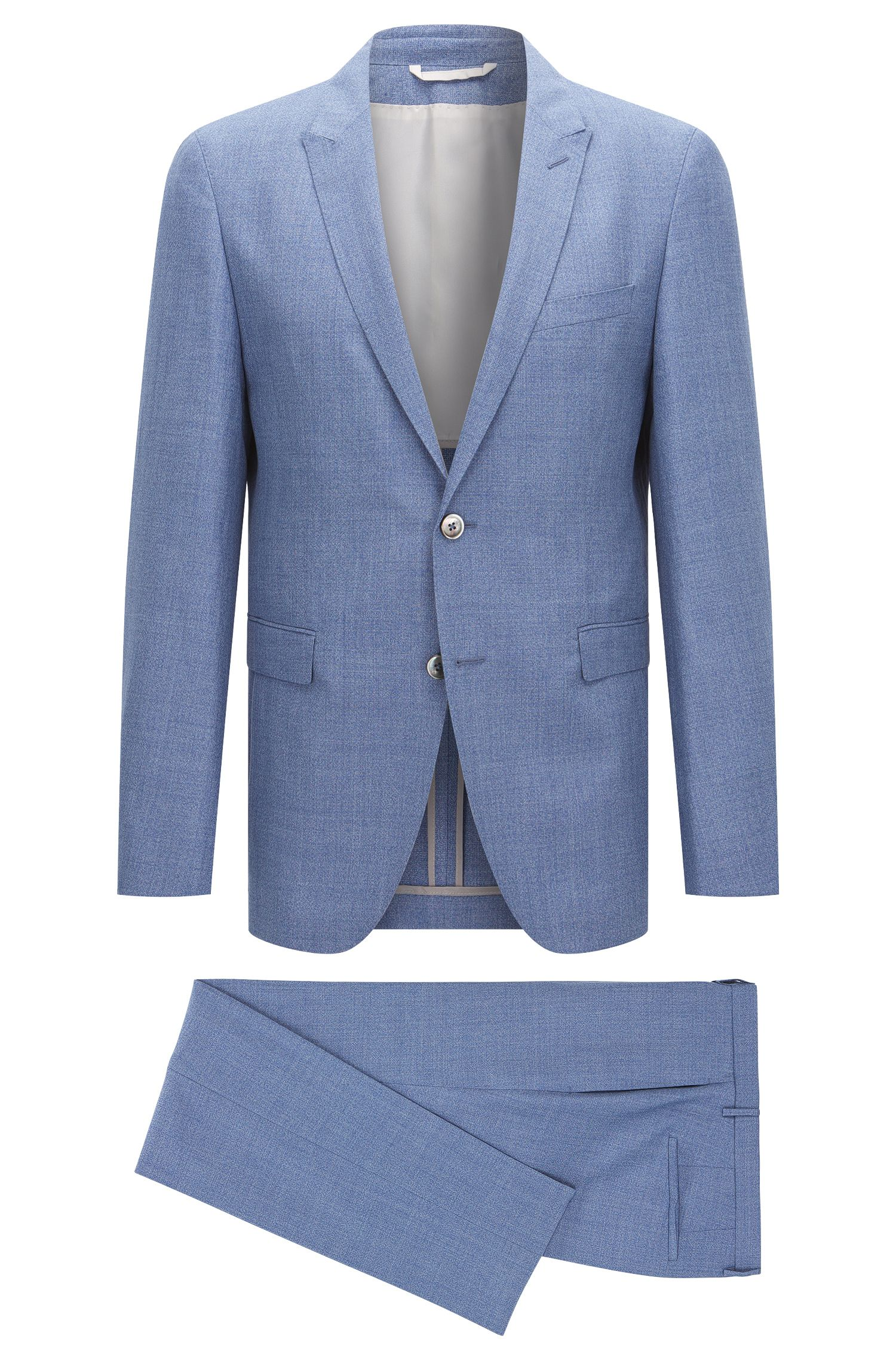 Slim-fit Tailored suit in new wool blend with linen and silk: 'T-Nebil/Bent'