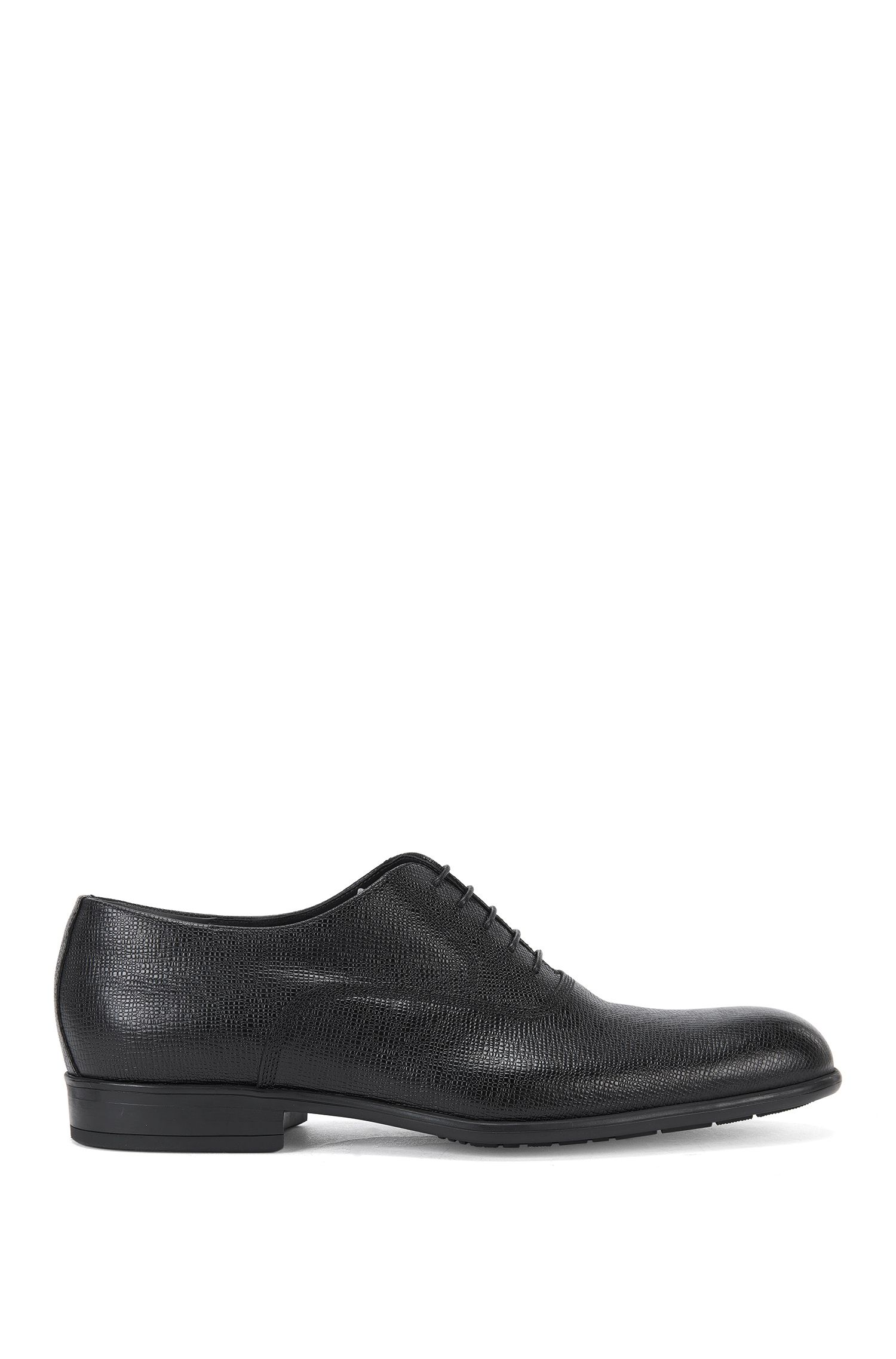 Lace-up shoes in embossed leather: 'Gentleman_Oxfr_pr'