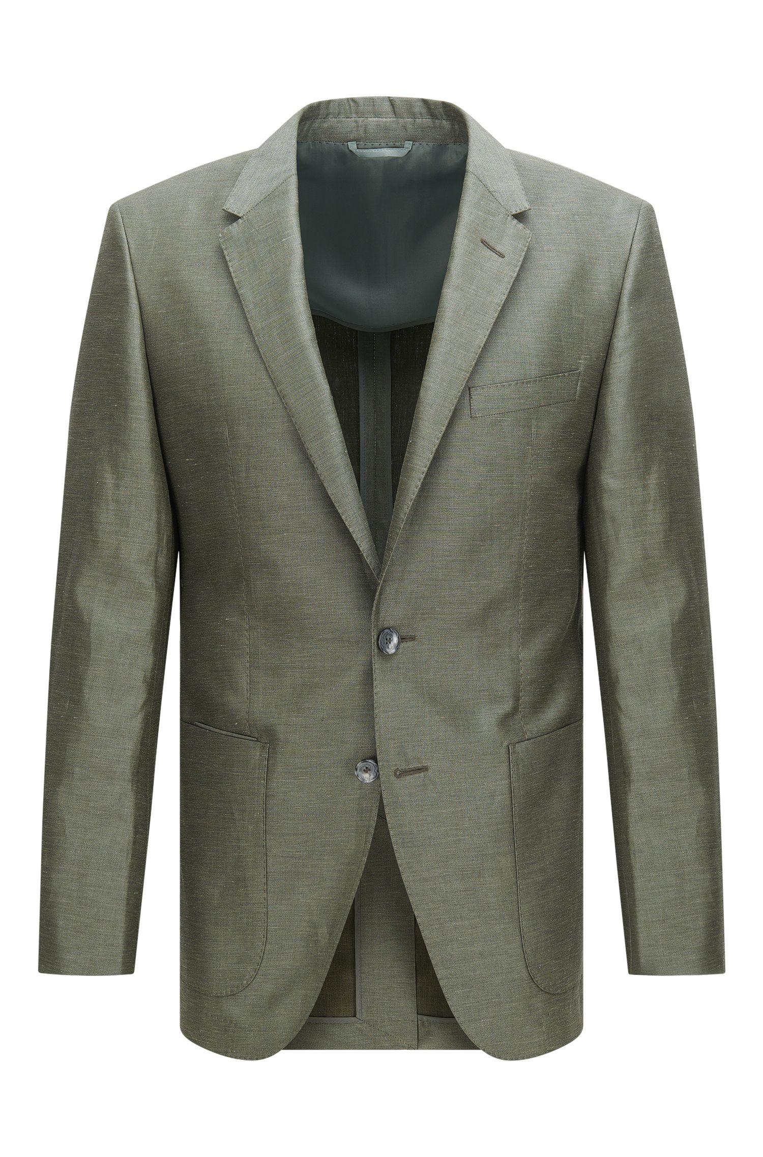 Americana slim fit de la línea Tailored en mezcla de lino con seda y algodón: 'T-Hanley'