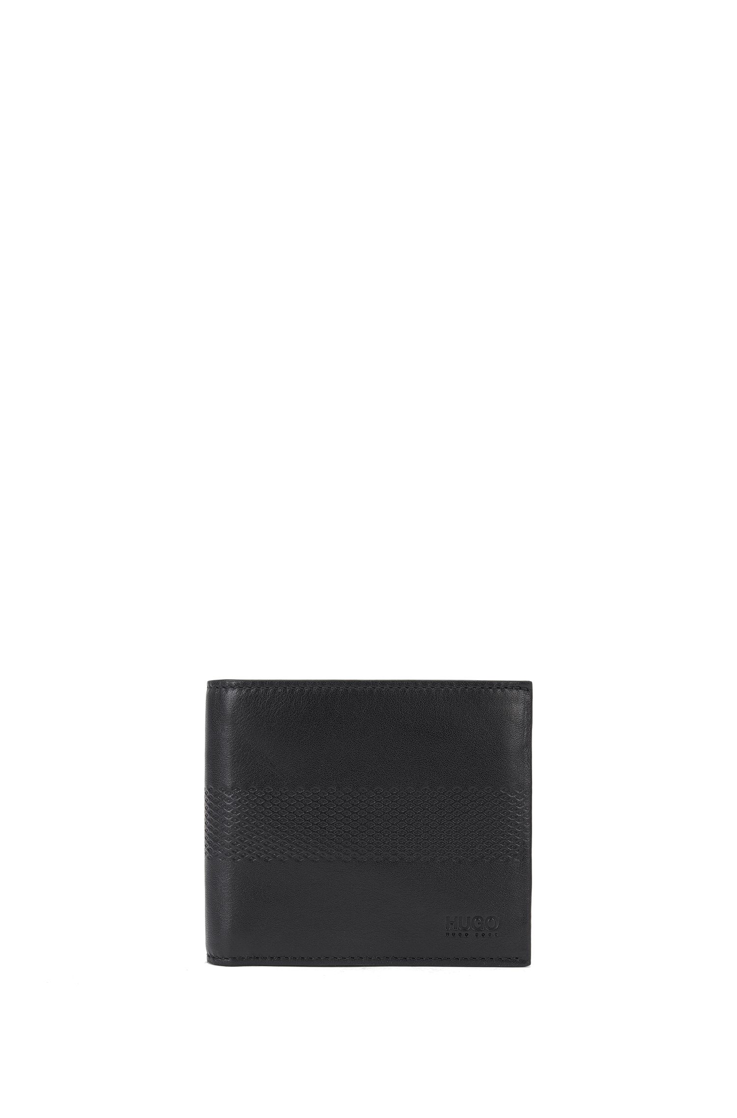 Wallet in leather with embossing: 'Future_4 cc coin'