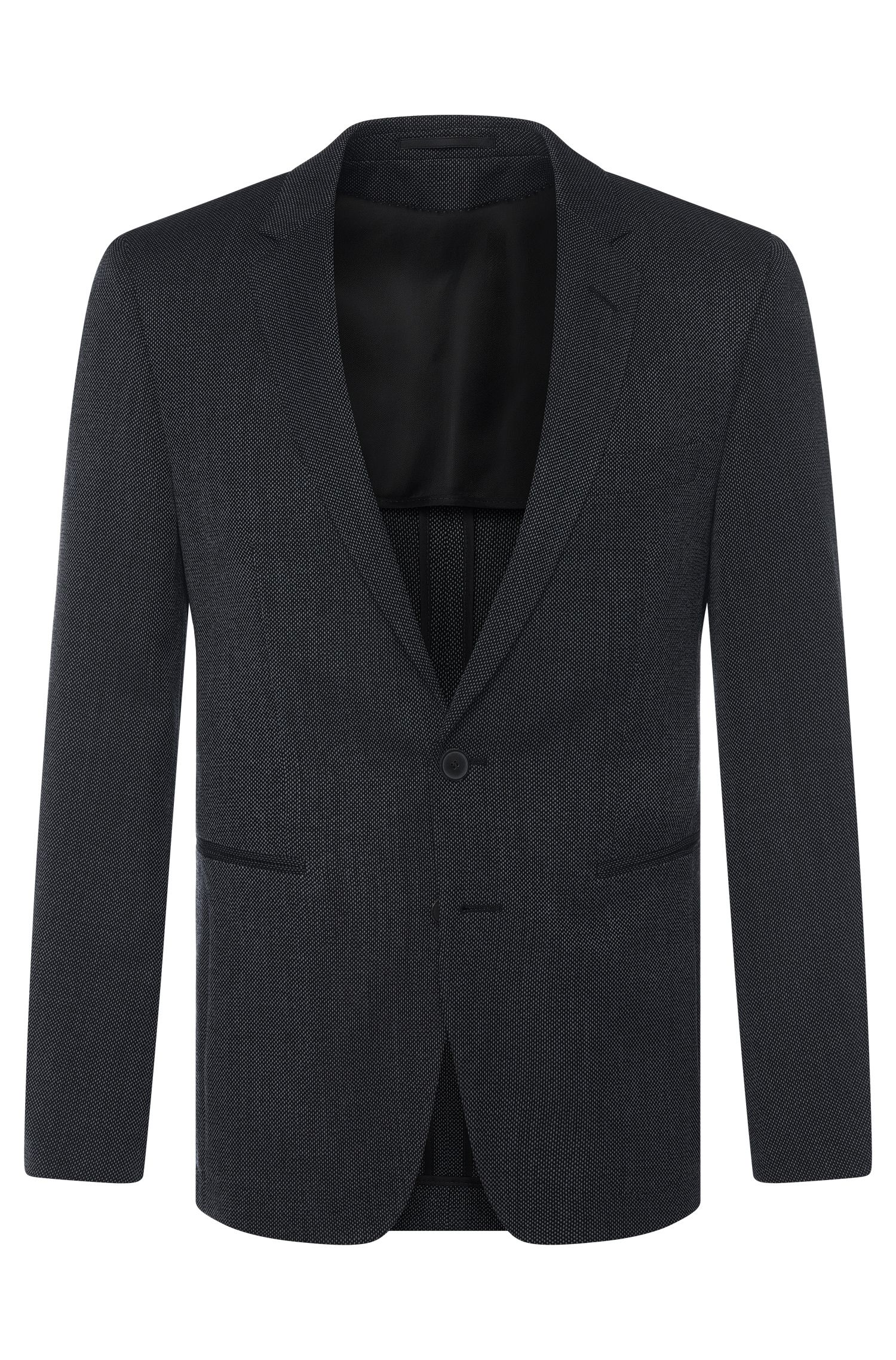 Giacca Tailored extra slim fit in misto lana vergine con mohair: 'T-Renan'