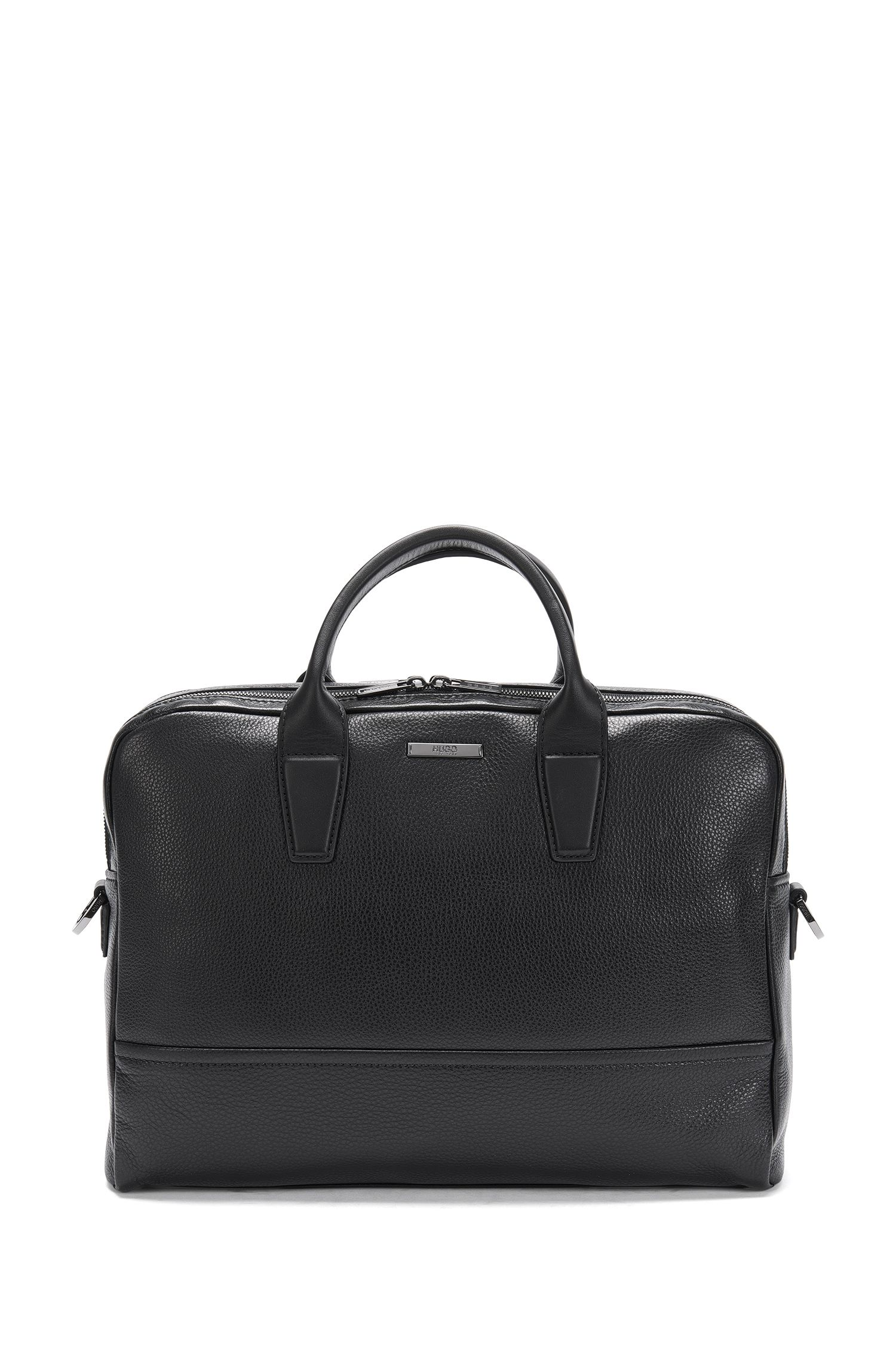 Leather bag with 2 main compartments: 'Element_D doc'