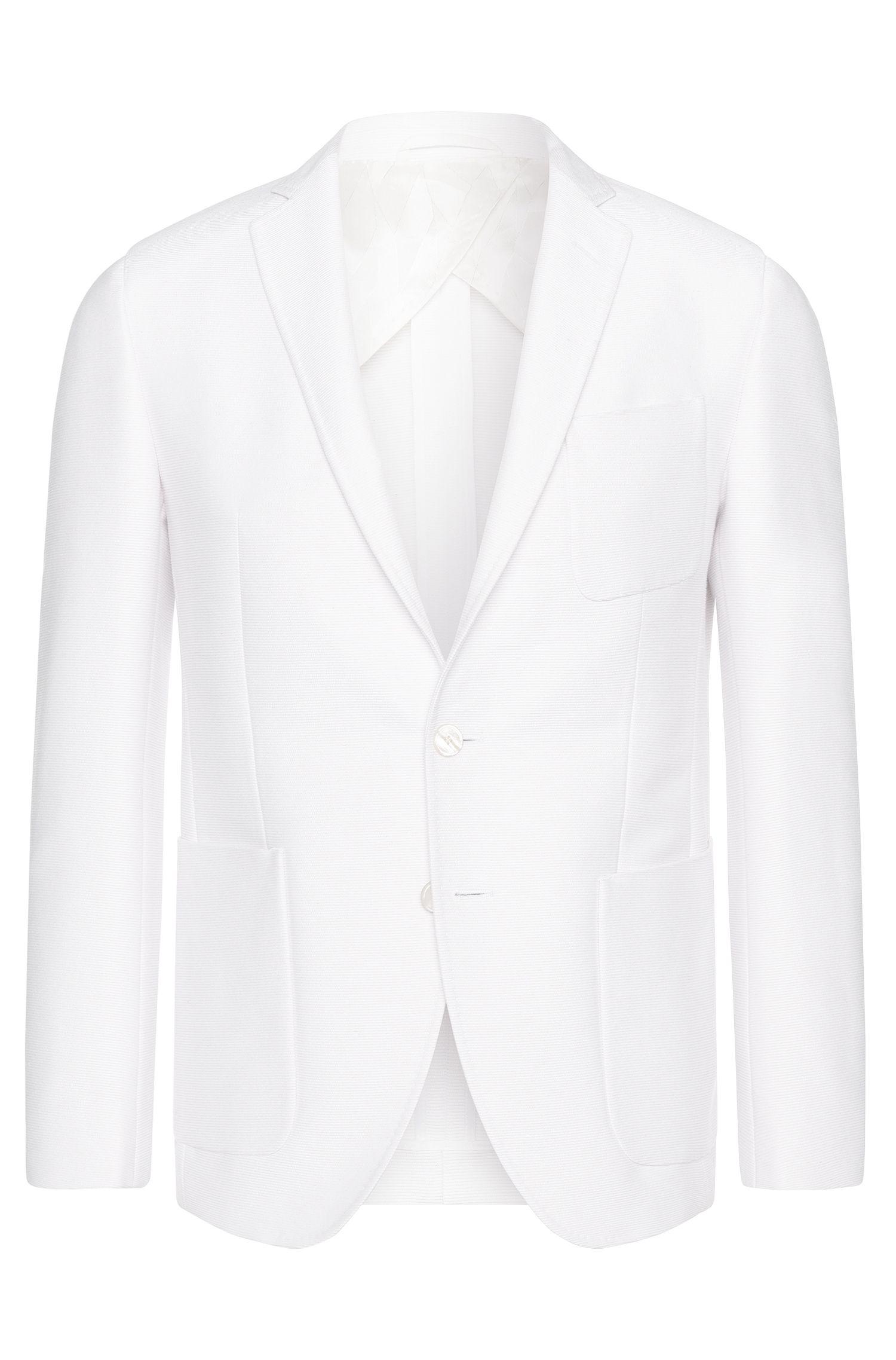 Americana extra slim fit en mezcla de algodón con botones nacarados: 'Raye6'