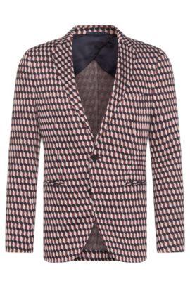 Veste de costume Slim Fit à motif en viscose mélangée extensible: «Norwin1», Rose