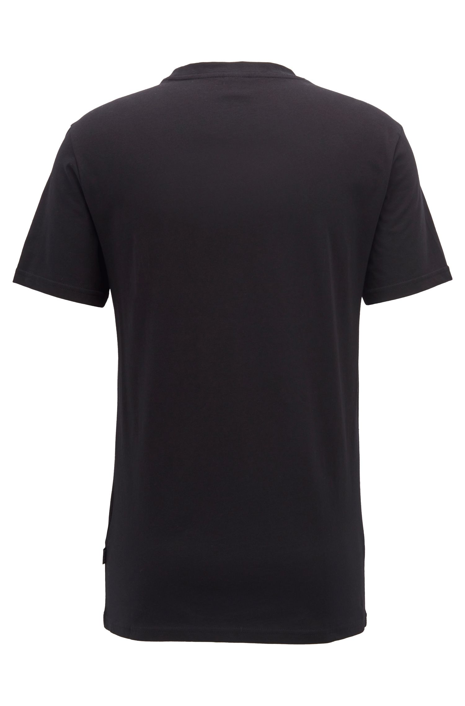 Relaxed-fit cotton T-shirt with UV protection, Black