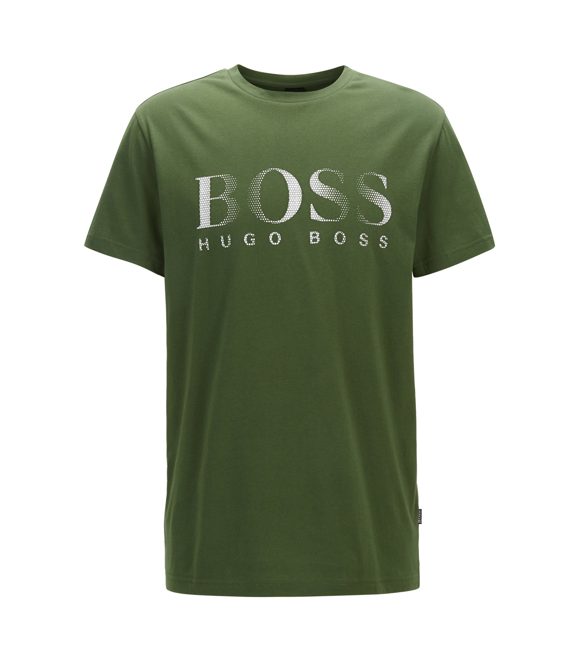 Relaxed-fit cotton T-shirt with UV protection, Dark Green