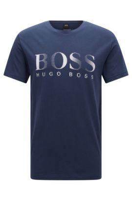T-shirt relaxed fit in cotone con protezione UV, Blu scuro