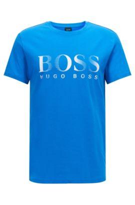 Camiseta relaxed fit en algodón con protección UV, Azul