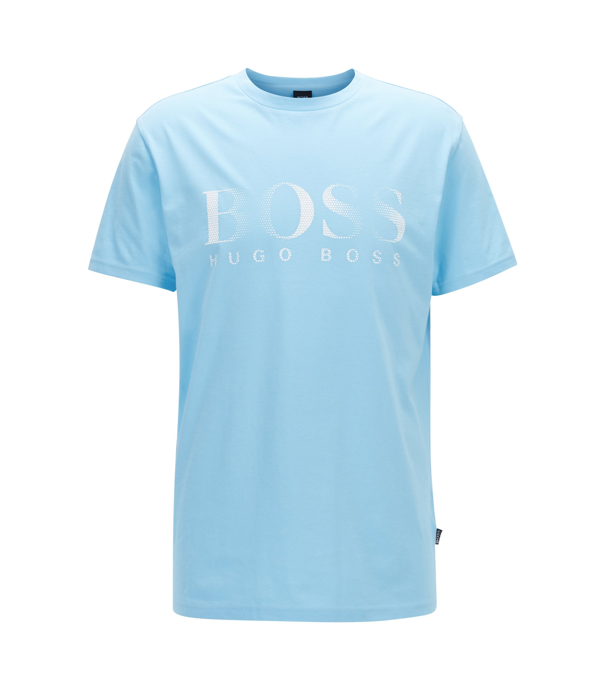 Relaxed-fit cotton T-shirt with UV protection, Light Blue