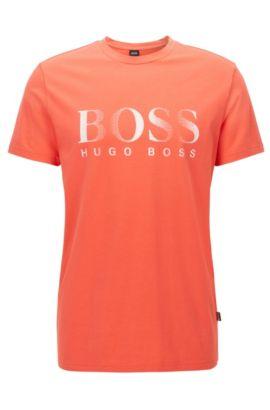 Relaxed-fit T-shirt van katoen met uv-bescherming, lichtrood