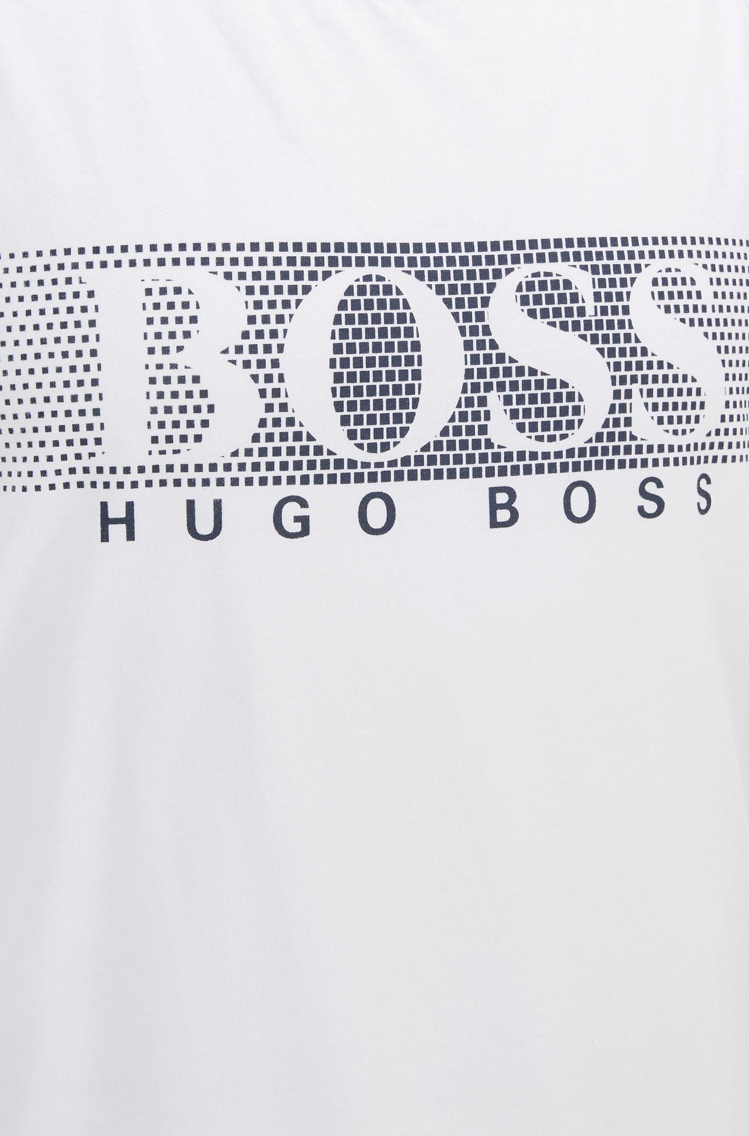 Leicht tailliertes ärmelloses Top aus Baumwolle mit Logo-Schriftzug
