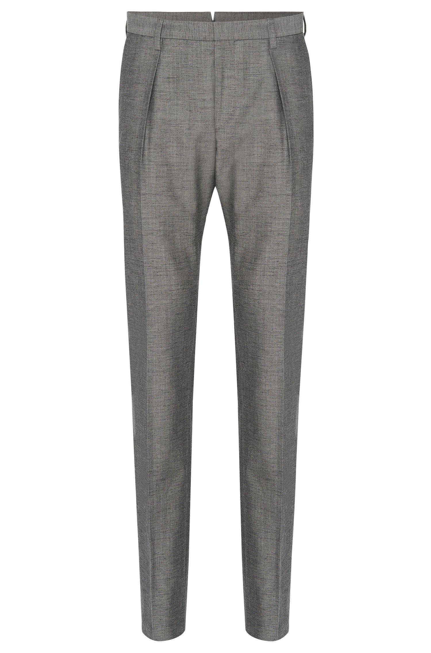 Pantalón jaspeado Tailored slim fit en mezcla de lana virgen con algodón: 'T-Gilman'