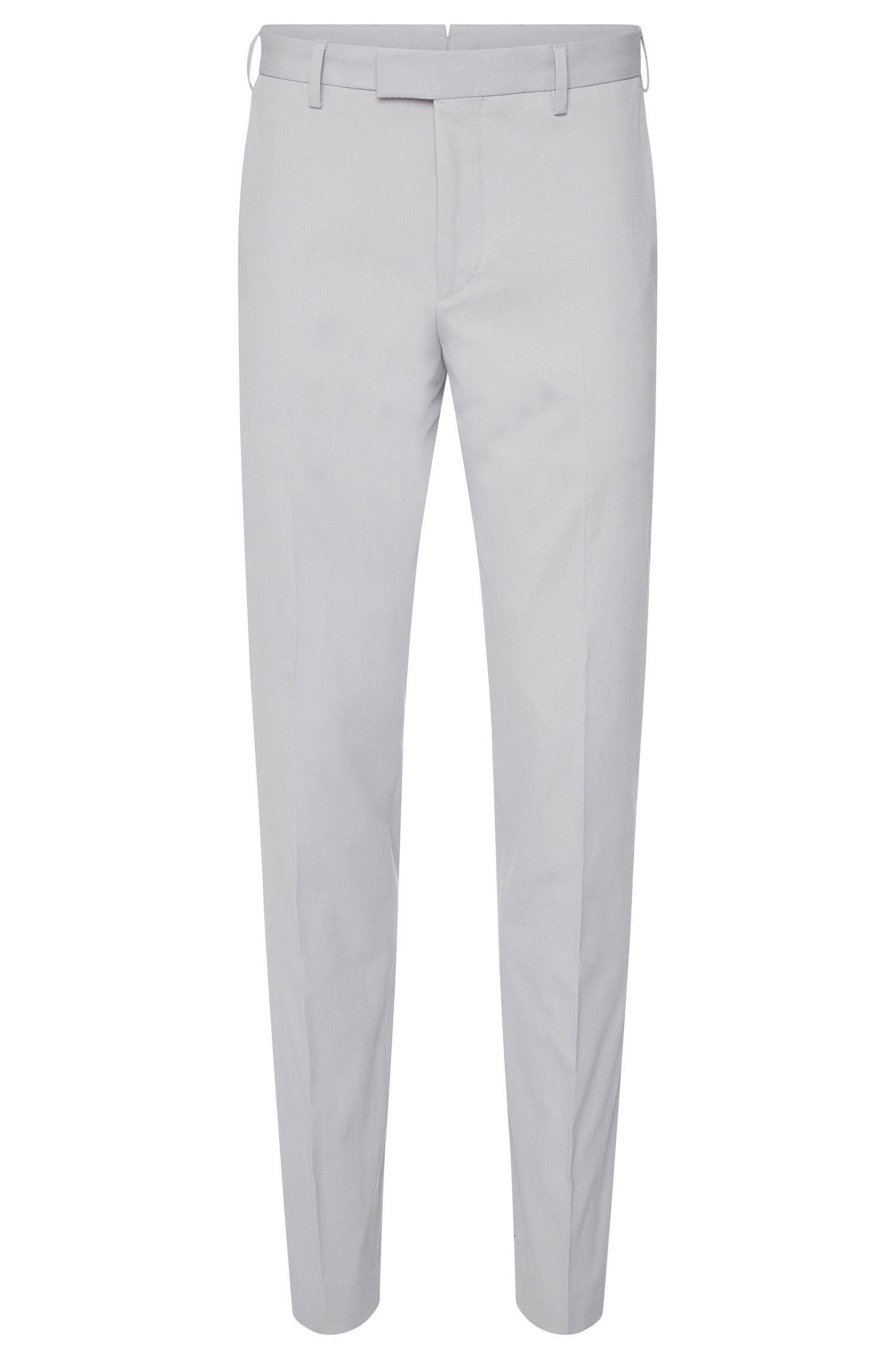 Pantalon Slim Fit Tailored en coton stretch finement côtelé: «T-Bak»