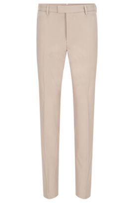Pantalon Slim Fit Tailored en coton stretch finement côtelé: «T-Bak», Beige clair