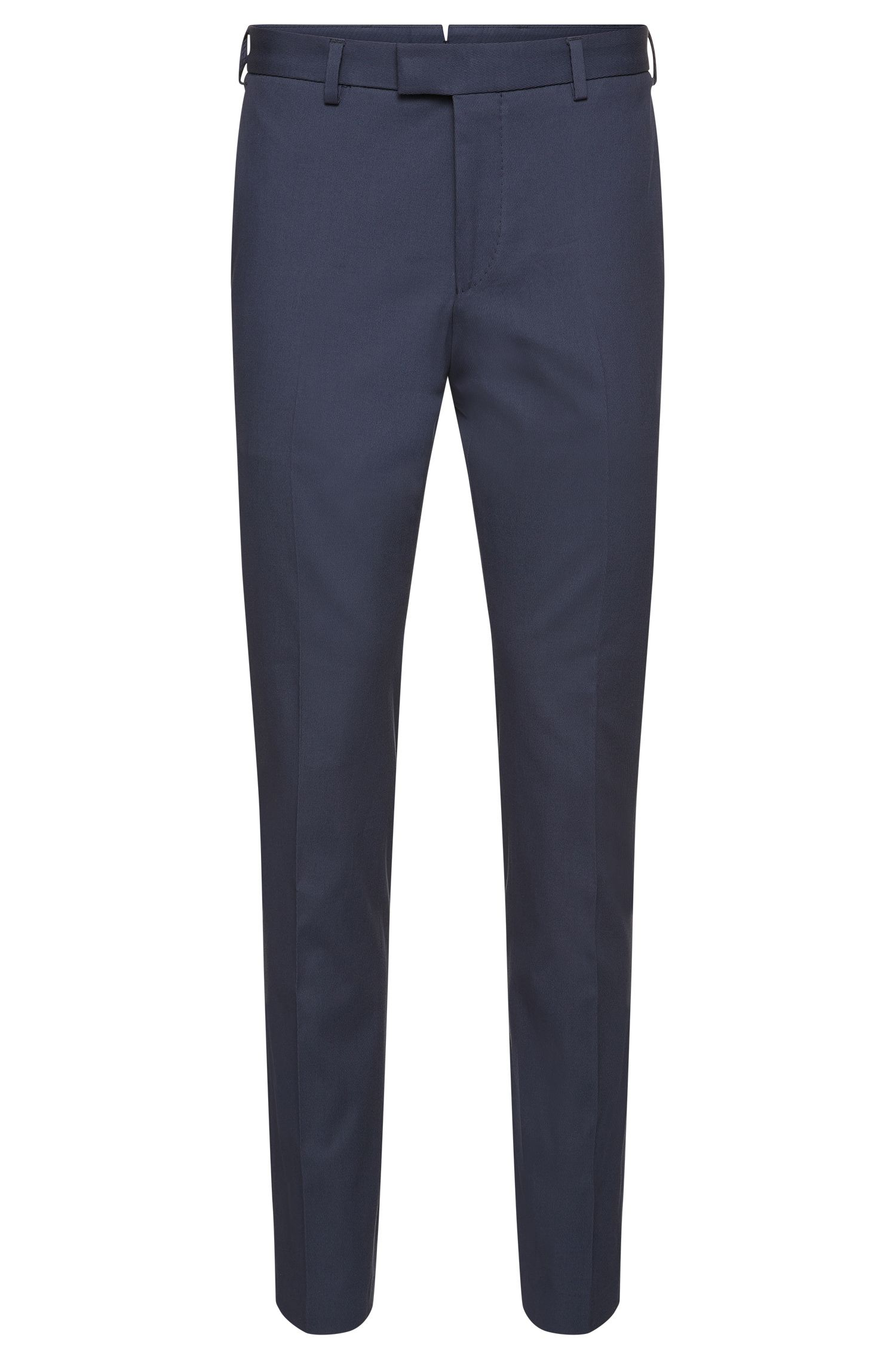 Pantalón slim fit Tailored en algodón elástico de canalé fino: 'T-Bak'