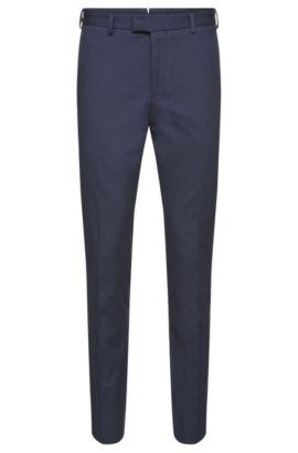 Pantalón slim fit Tailored en algodón elástico de canalé fino: 'T-Bak', Celeste