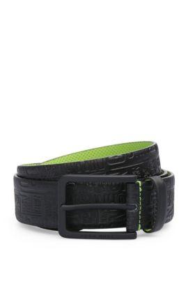 Cinturón de piel con un estampado llamativo: 'Tuscon_Sz35_ltem', Negro