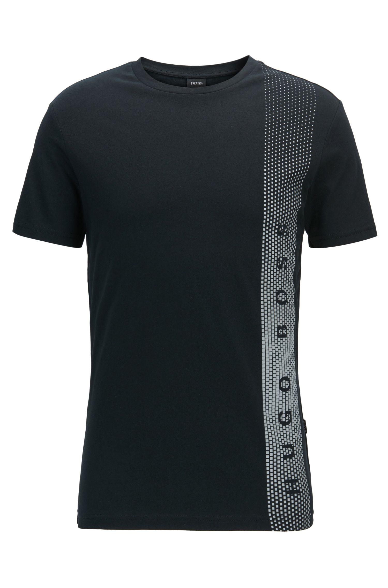 Slim-fit T-shirt van katoen met uv-bescherming
