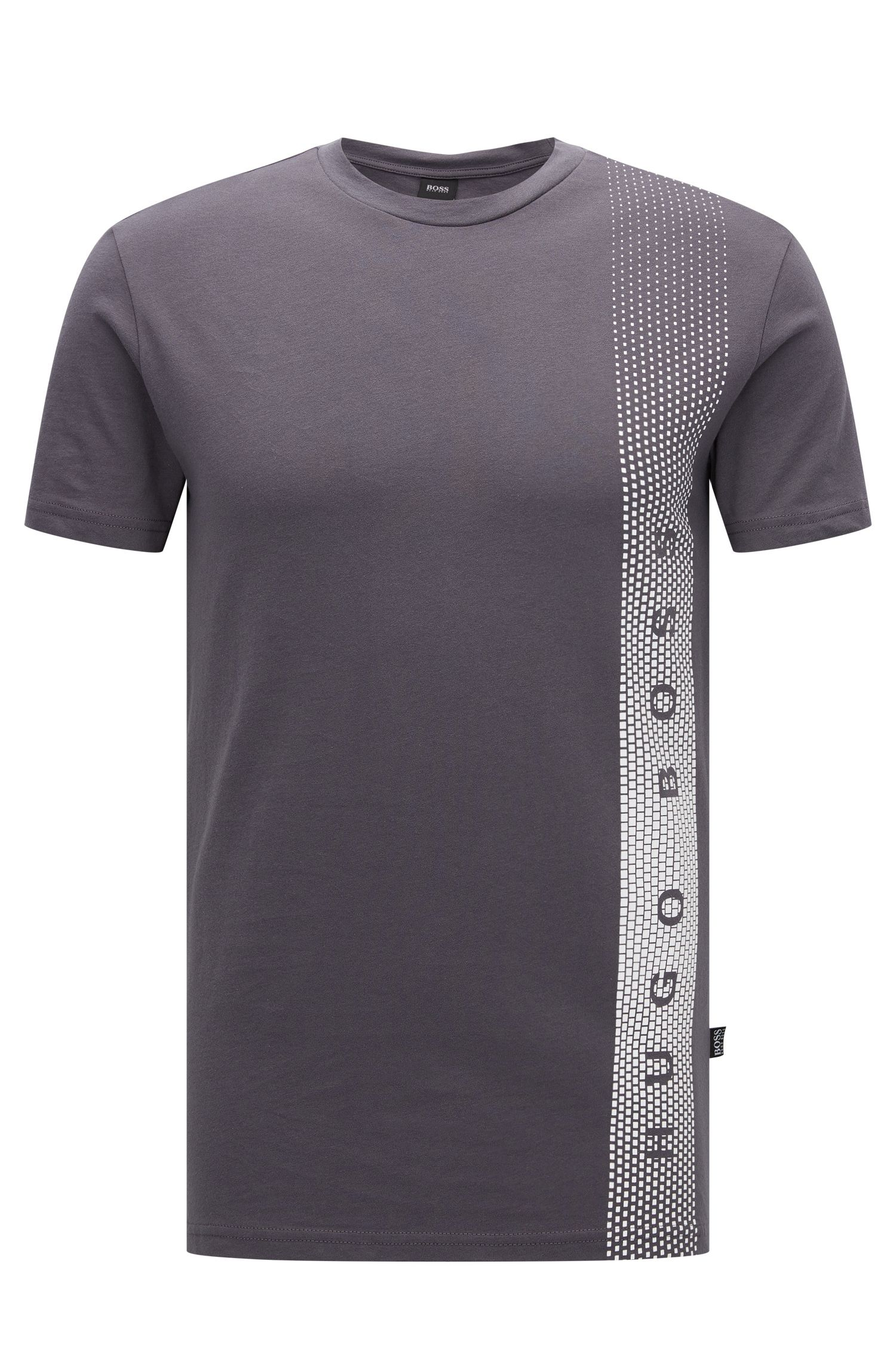 Slim-Fit T-Shirt aus Baumwolle mit UV-Schutz