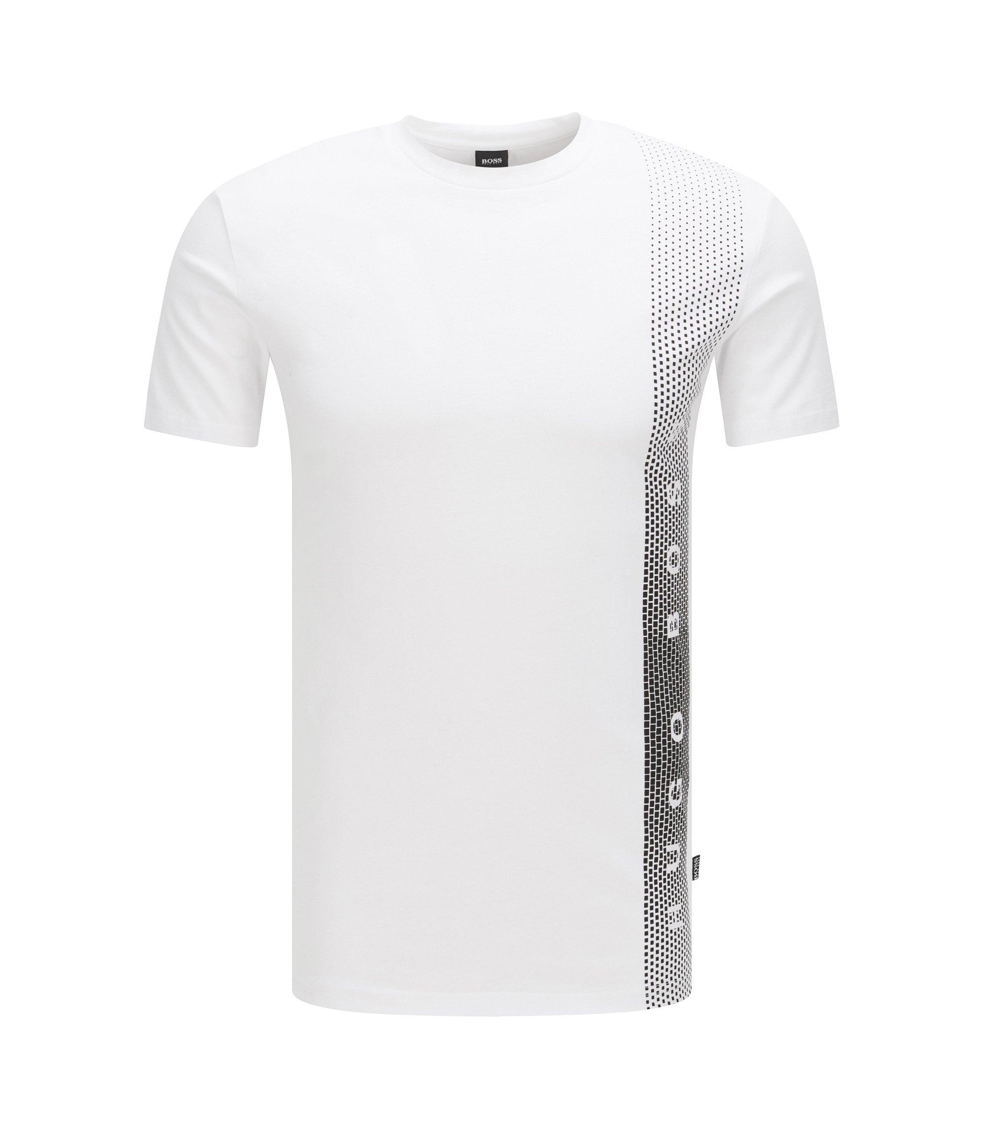 Camiseta slim fit en algodón con protección UV, Blanco