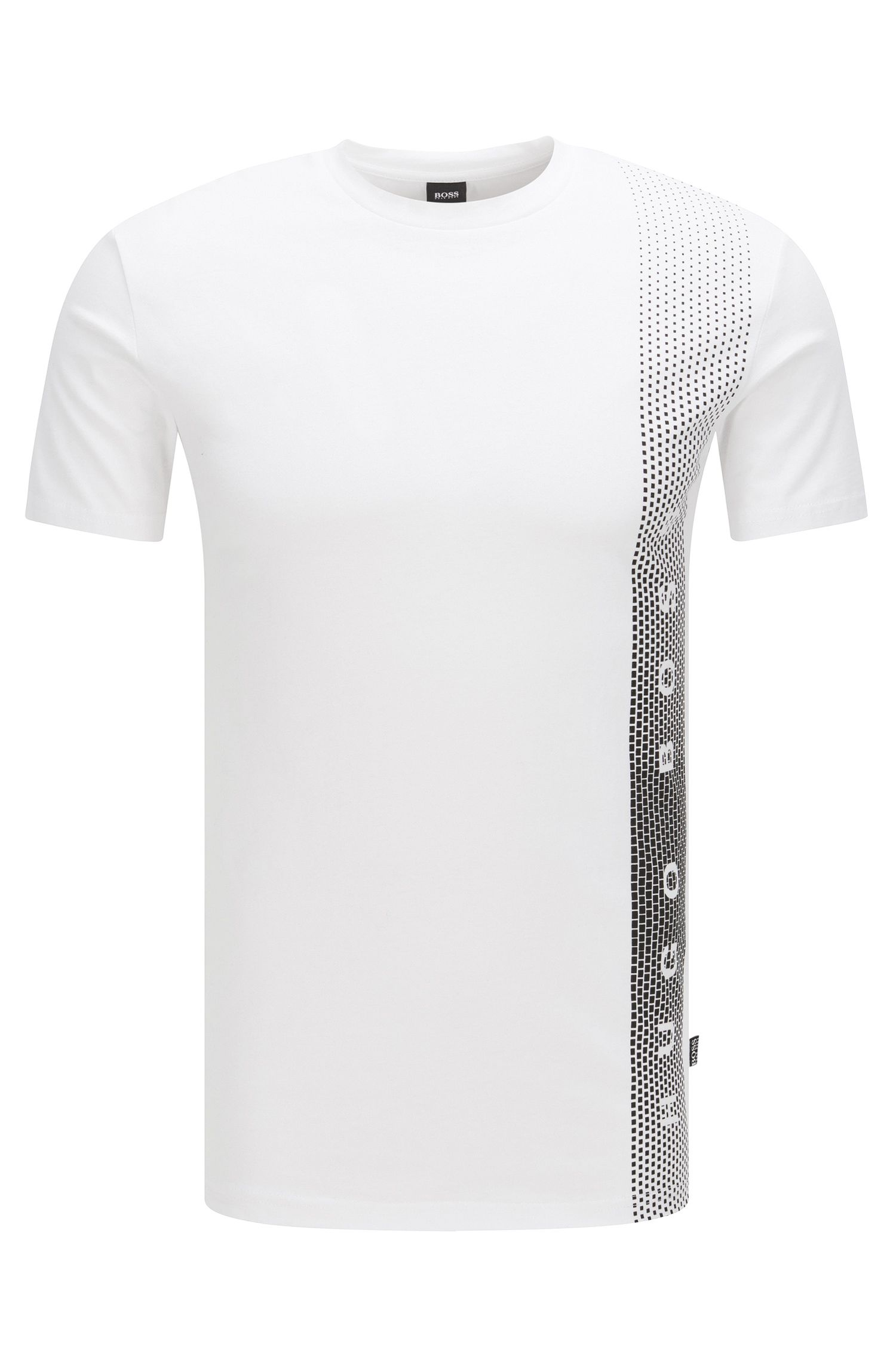 T-shirt slim fit in cotone con protezione UV