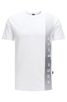 Slim-fit cotton T-shirt with UV protection, Natural