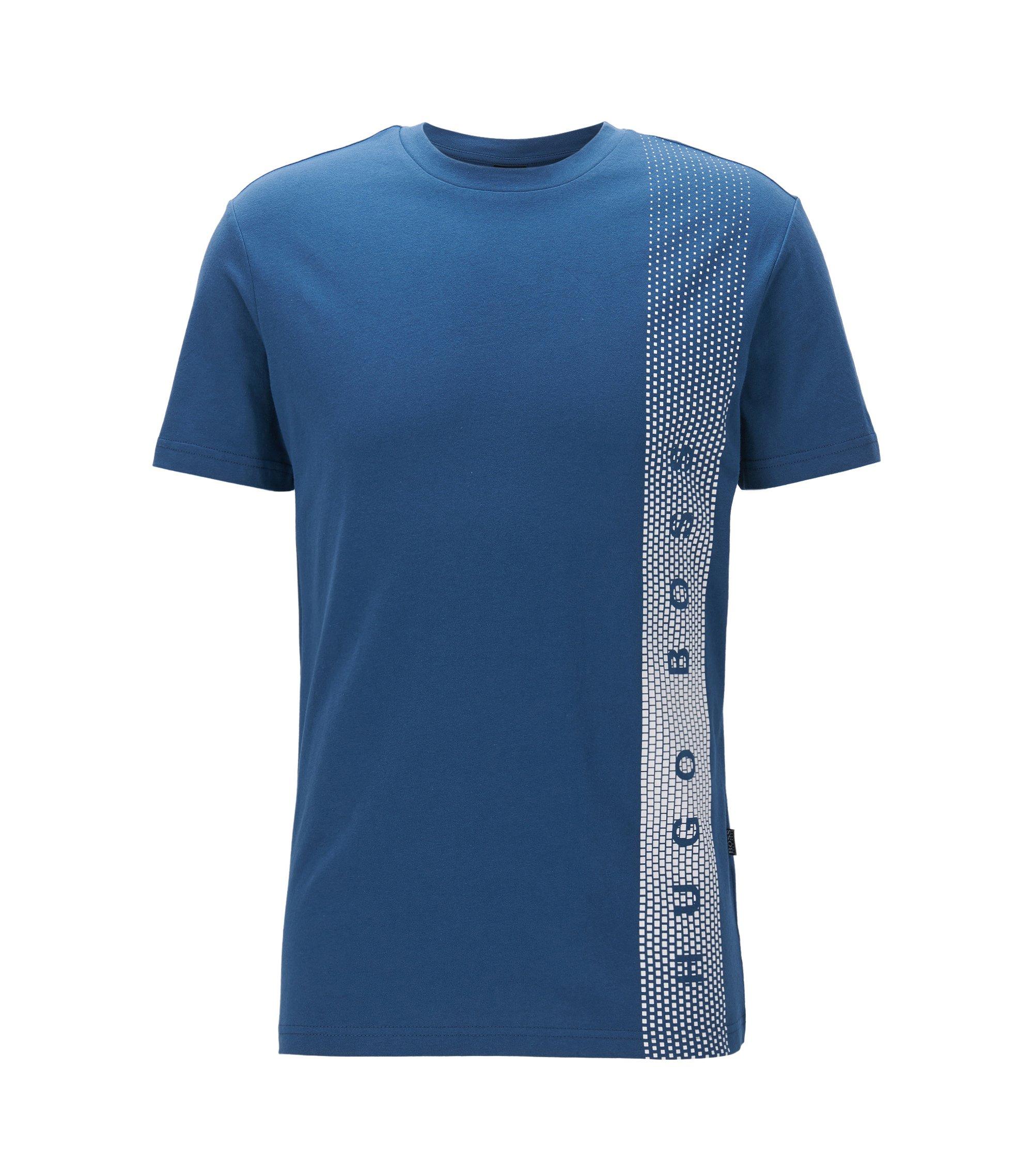 Slim-Fit T-Shirt aus Baumwolle mit UV-Schutz, Dunkelblau