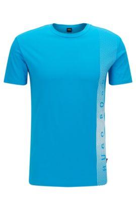 Slim-fit T-shirt van katoen met uv-bescherming, Turkoois