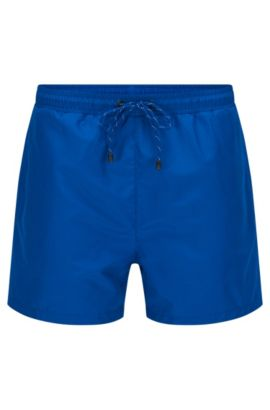 Plain swim shorts in a quick-drying material blend: 'Lizardfish', Blue