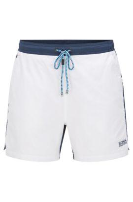 Regular-fit zwemshort van een sneldrogende materiaalmix: 'Snapper', Wit
