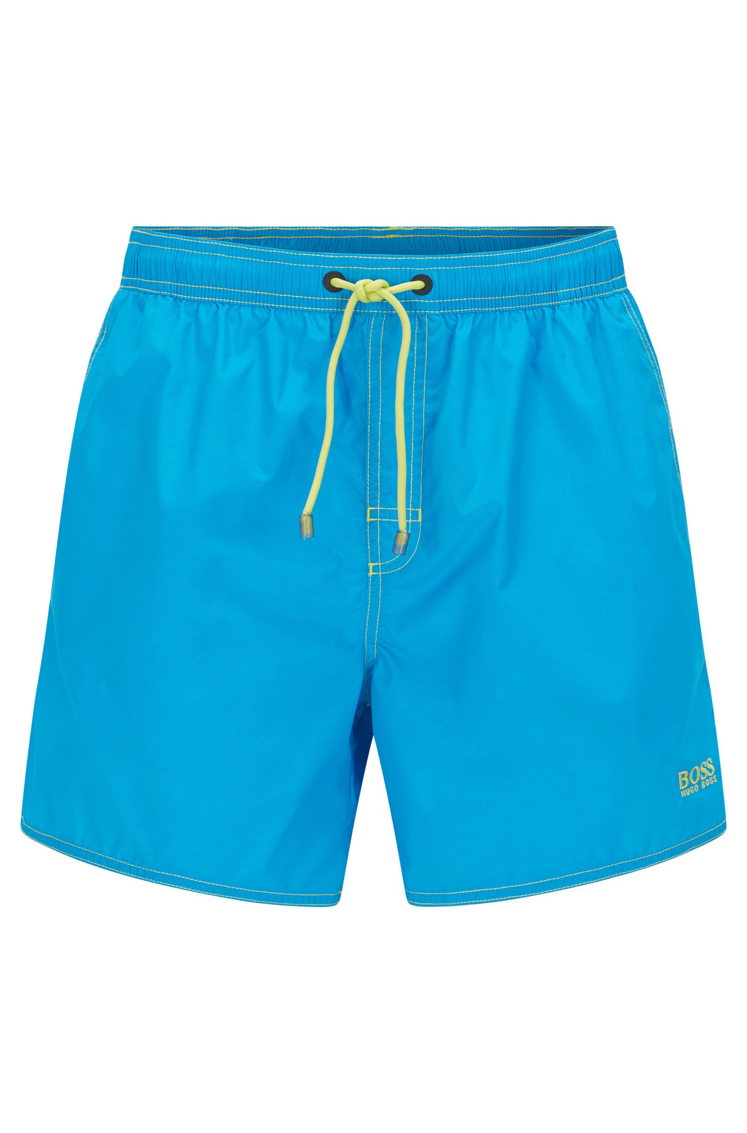 Short-length swim shorts in technical fabric