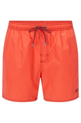 Short-length swim shorts in technical fabric, Light Red