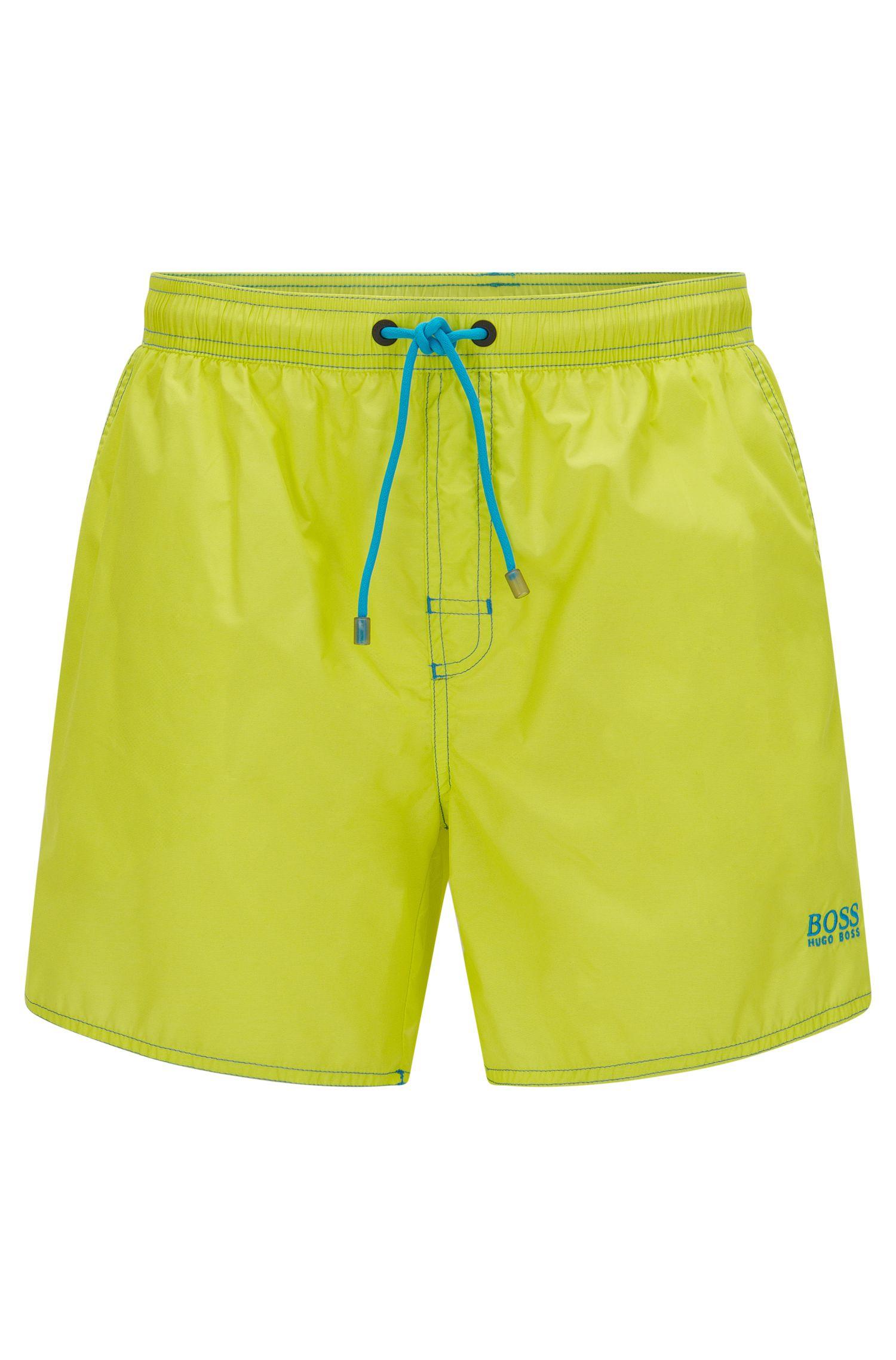 Short-length swim shorts in technical fabric