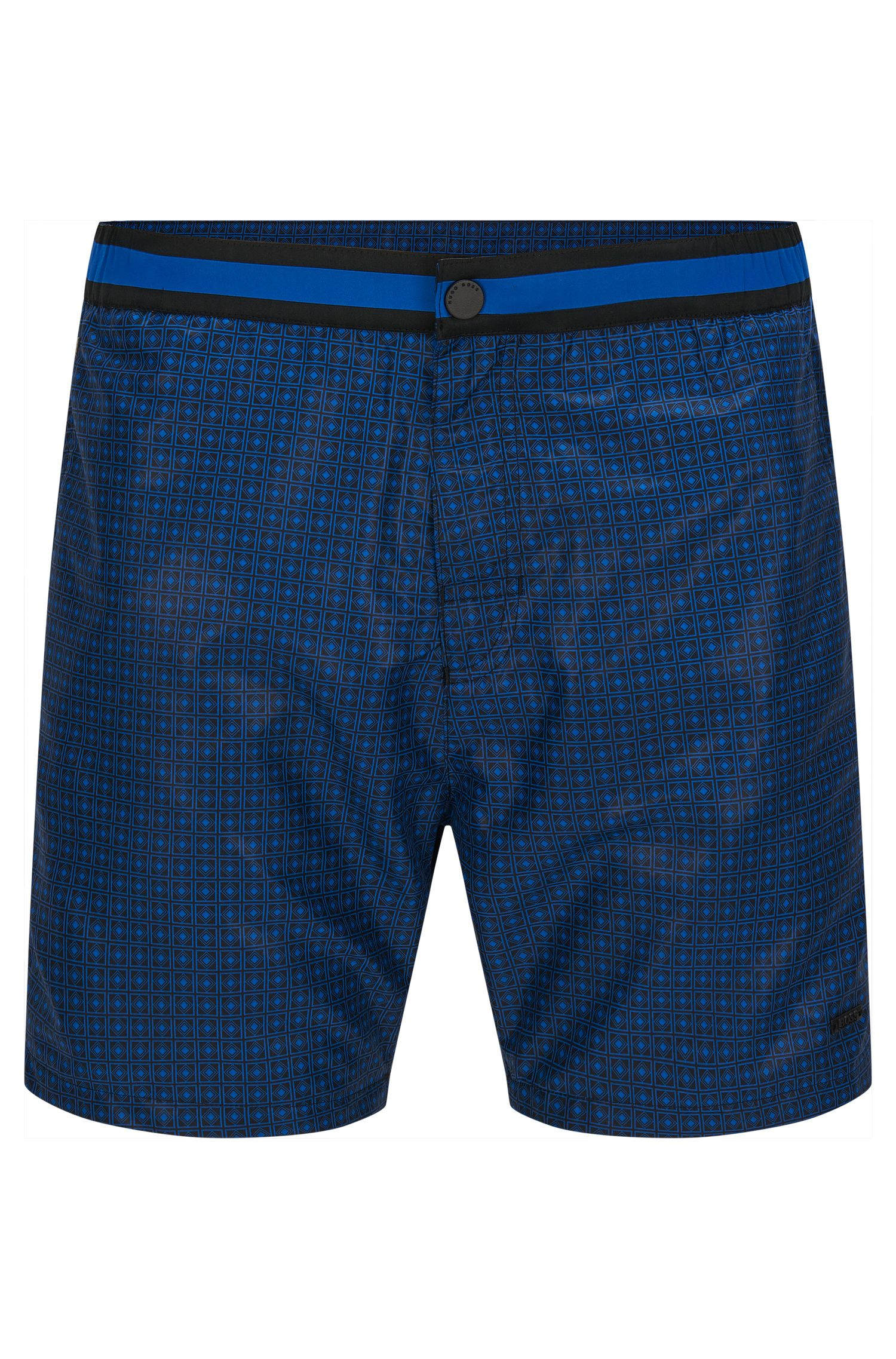 Finely patterned swim shorts in a quick-drying material blend: 'Kelpfish'