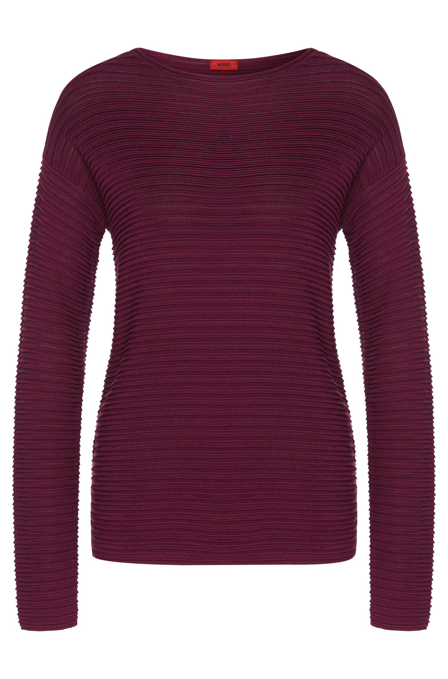 Sweater in stretch viscose blend with silk, cotton and cashmere: 'Suria'