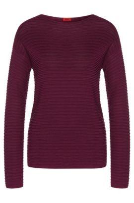 Jersey en mezcla de viscosa elástica con seda, algodón y cachemira: 'Suria', Lila