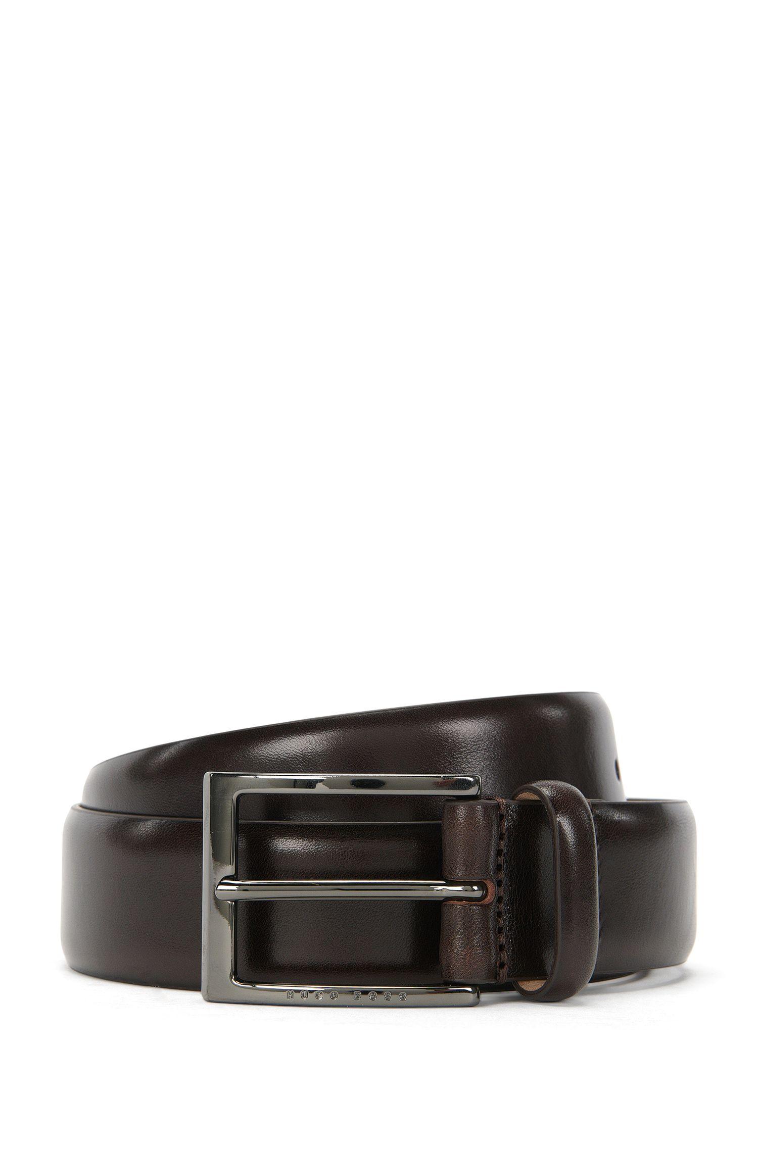 Cinturón de BOSS Tailored en dos tonos en piel de curtido vegetal