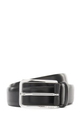 Belt in grained leather: 'Cecilio_Sz35_Itpl', Black