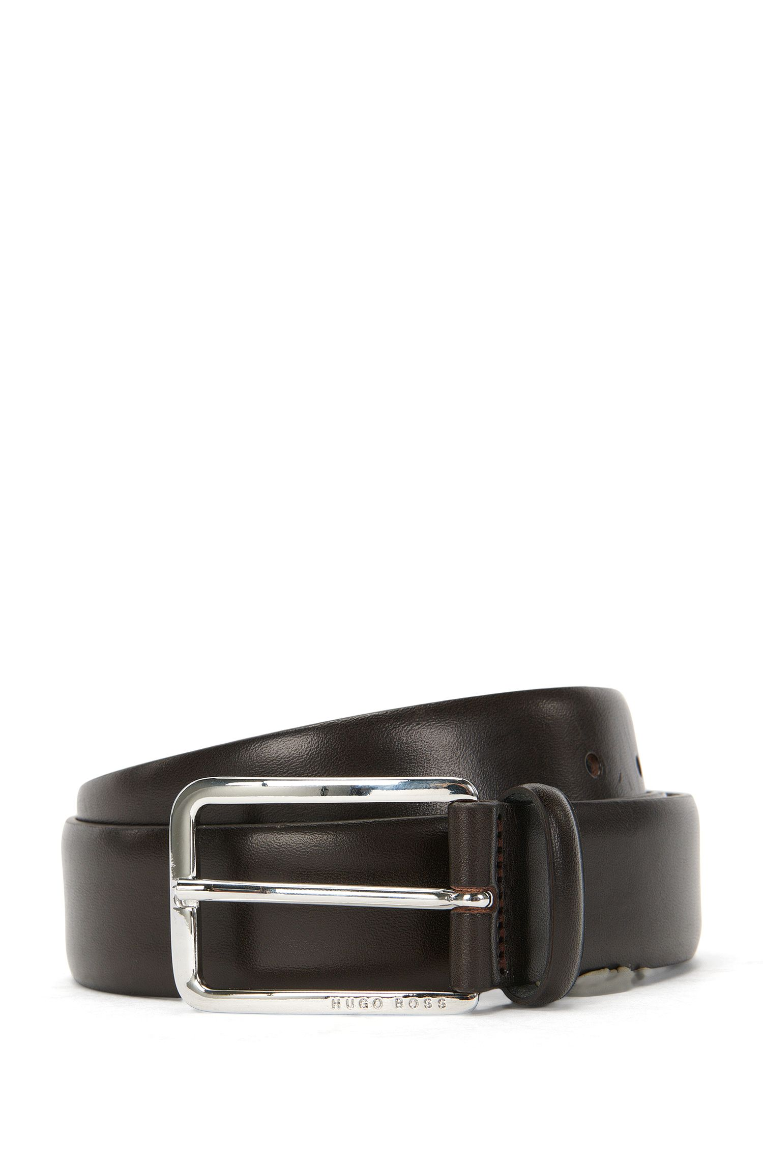 Belt in grained leather: 'Cecilio_Sz35_Itpl'