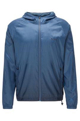 Regular-fit strandjas van technisch materiaal, Donkerblauw