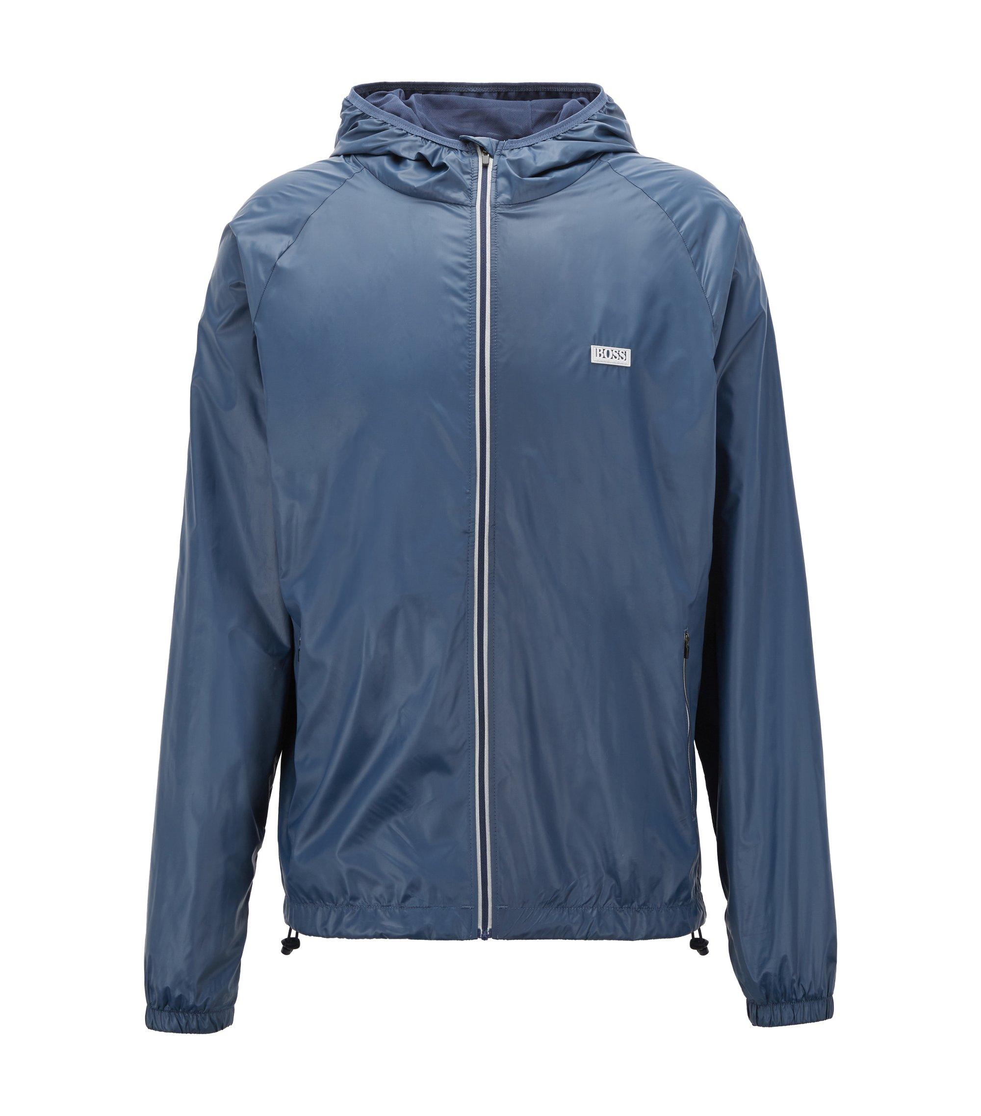 Regular-fit technical beach jacket, Dark Blue
