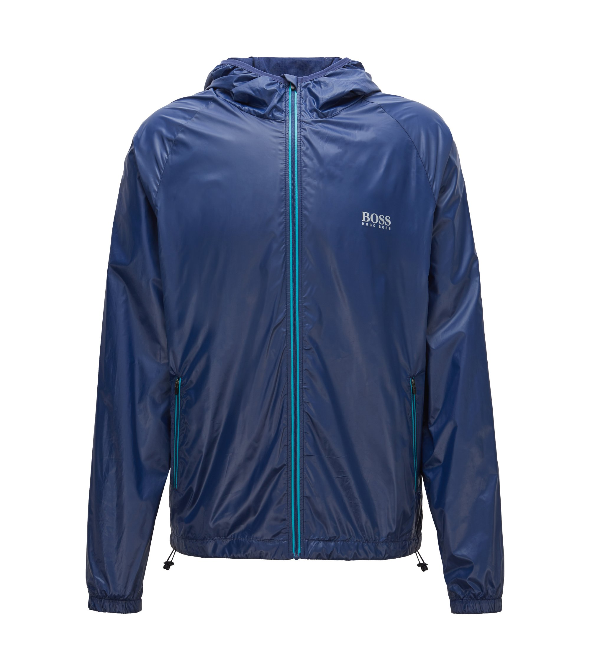 Regular-fit technical beach jacket, Dark Blue