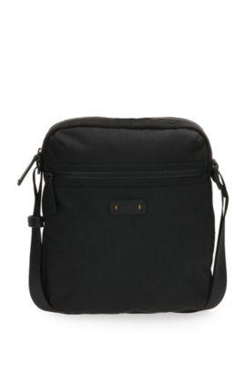 Reporter Bag aus strukturiertem Material-Mix: ´Saturn R_NS zip`, Schwarz
