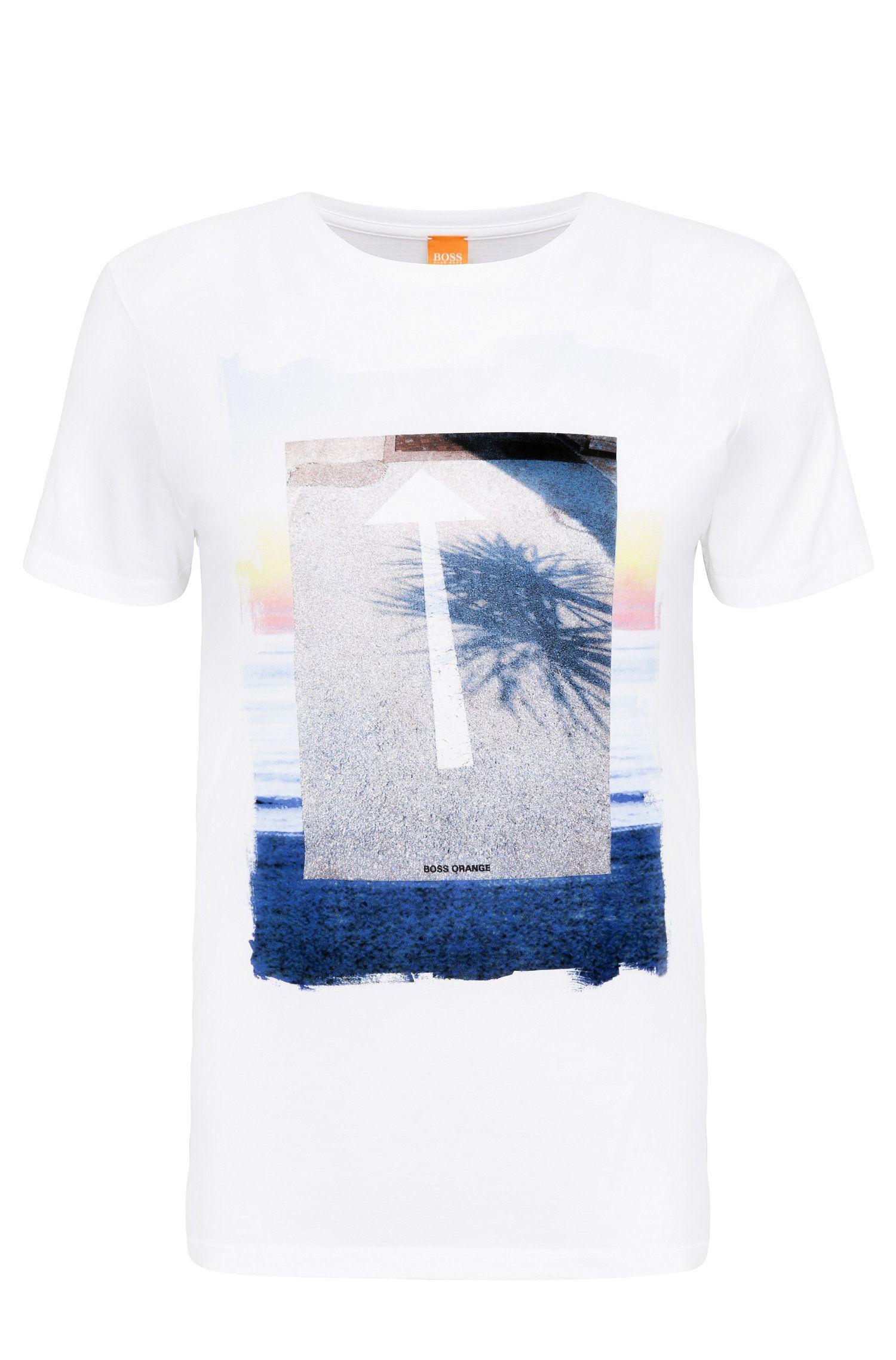 Regular-fit shirt van katoen met print: 'Tintype 2'