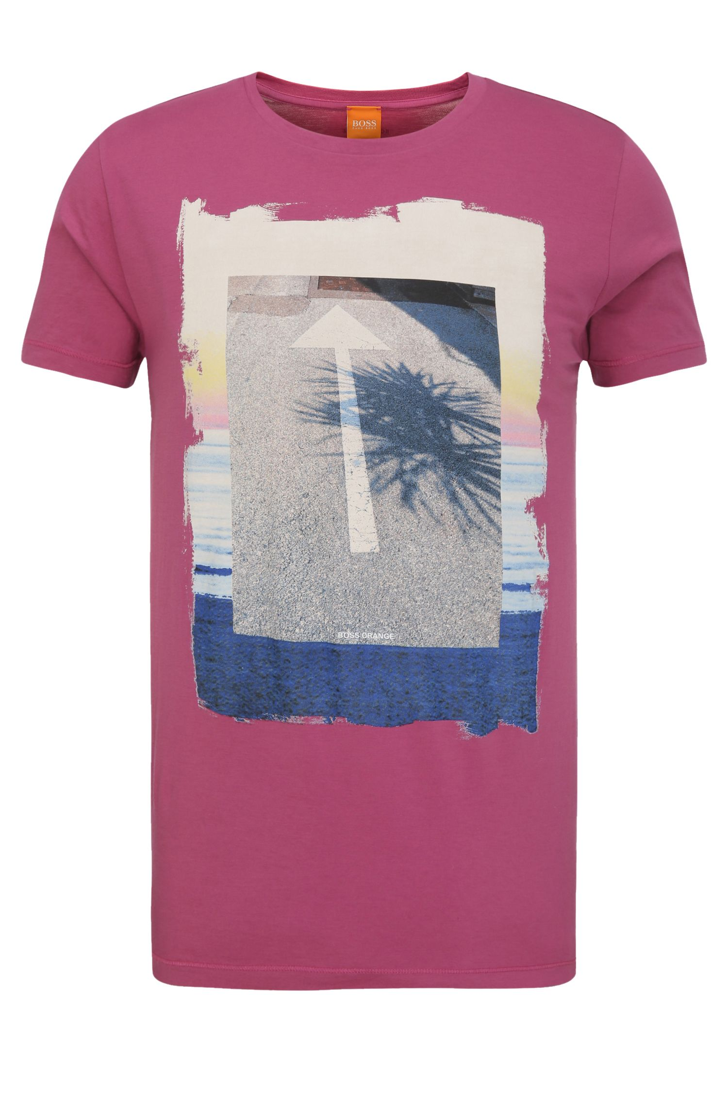 Regular-fit print t-shirt in cotton: 'Tintype 2'